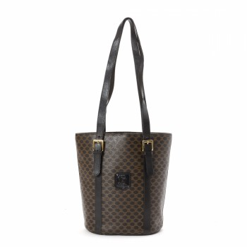 celine coated canvas handle bag