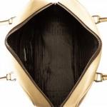 Prada Boston Bag Cream Leather Travel Bag - LXR\u0026amp;CO Vintage Luxury