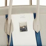 birkin tote bag - Herm��s Birkin 35 Togo Club Mykonos / Gris Tourterelle Leather ...