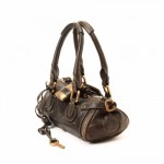 Chlo¨¦ Paddington Minui Handbag Dark Brown Leather Handbag - LXR\u0026amp;CO ...