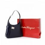 Ferragamo Shoulder Bag Gancini Black Box Calf Shoulder Bag LXRCO 11