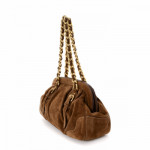 Prada Chain Shoulder Bag Brown Suede Shoulder Bag LXRCO 6