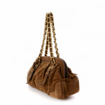 Prada Chain Shoulder Bag Brown Suede Shoulder Bag LXRCO 4