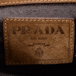 Prada Chain Shoulder Bag Brown Suede Shoulder Bag LXRCO 9