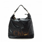 Chloé Eclipse Hobo Black Leather Shoulder Bag LXRCO 2