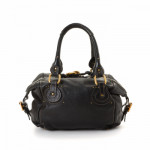 Chloé Paddington Bag Black Leather Shoulder Bag LXRCO 5