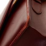 Cartier Double Flap Shoulder Bag Box Calf Bordeaux Box Calf Shoulder Bag LXRCO 9