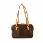 Louis Vuitton Cite MM Monogram Brown Coated Canvas Shoulder Bag LXRCO 5