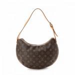 Louis Vuitton Croissant MM Monogram Brown Coated Canvas Shoulder Bag LXRCO 5