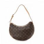 Louis Vuitton Croissant MM Monogram Brown Coated Canvas Shoulder Bag LXRCO 2