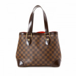 Louis Vuitton Hampstead PM Damier Ebene Brown Coated Canvas Shoulder Bag LXRCO 5
