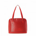 Louis Vuitton Lussac Epi Red Leather Shoulder Bag LXRCO 2
