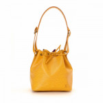 Louis Vuitton Petit Noe Epi Yellow Leather Shoulder Bag LXRCO 2