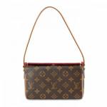 Louis Vuitton Recital Monogram Brown Coated Canvas Shoulder Bag LXRCO 2