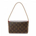 Louis Vuitton Recital Monogram Brown Coated Canvas Shoulder Bag LXRCO 5